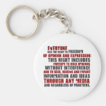 Article 19 Quote (Color) Key Chain