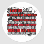 Article 19 Quote (Color) Round Sticker
