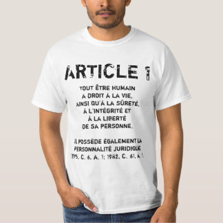 ARTICLE 1 T-Shirt