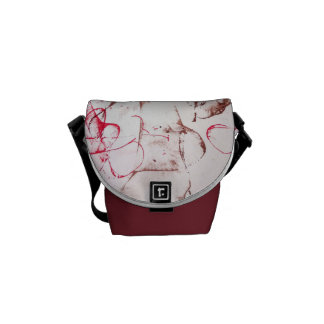 Article ice tic print courier bag