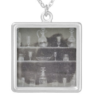 Articles of glass silver plated necklace