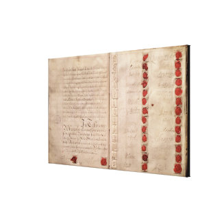 Articles of Union between England and Scotland Canvas Print