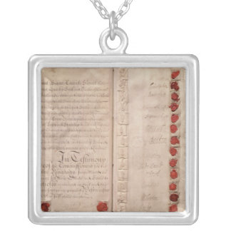 Articles of Union between England and Scotland Silver Plated Necklace