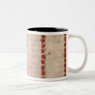 Articles of Union between England and Scotland Two-Tone Coffee Mug