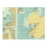 Ártico, la Antártida Tarjeta Postal
