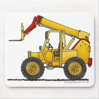 Articulating Boom Lift Construction Mouse Pad