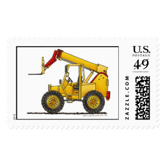 Articulating Boom Lift Construction Stamps