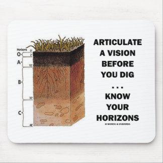 Articule Vision antes de que usted cave… Alfombrillas De Raton