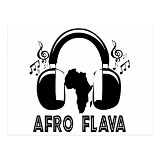 artículo afro-flava postal