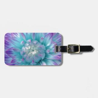 Artículo azul y púrpura del regalo de la dalia etiquetas para maletas