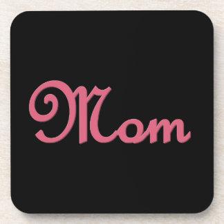 Artículo de encargo del regalo de la mamá rosada y posavasos de bebidas
