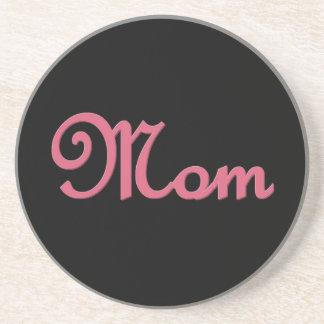 Artículo de encargo del regalo de la mamá rosada y posavasos para bebidas