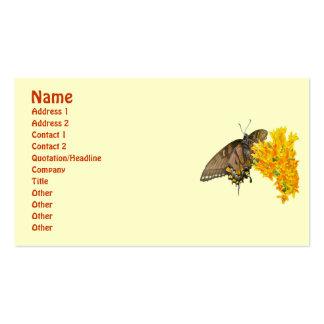 Artículo de la mariposa de Swallowtail del tigre Tarjetas De Negocios