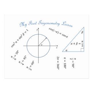 Artículo de la trigonometría del estudiante de pri tarjetas postales