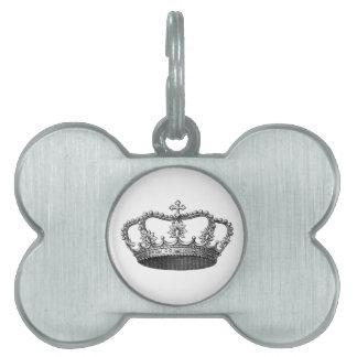 Artículo de plata del regalo de la corona que placa de mascota