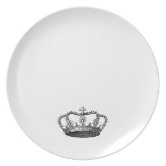 Artículo de plata del regalo de la corona que plato de comida