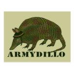 Artículo del armadillo del ejército tarjeta postal