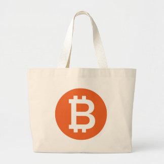 Artículo del logotipo de Bitcoin Bolsas De Mano