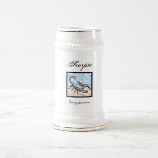 Artículo del zodiaco del escorpión jarra de cerveza