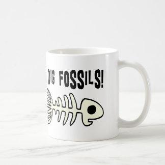 Artículo fósil divertido del regalo tazas de café