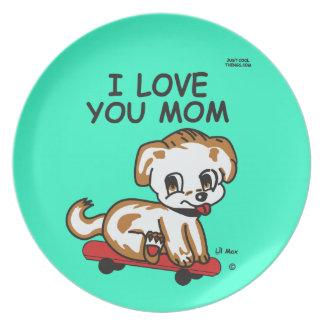 Artículo máximo de la mamá de Lil del regalo te Platos De Comidas