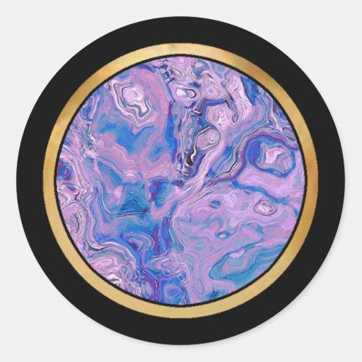 Artículo multicolor del regalo del modelo pegatinas redondas
