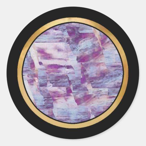 Artículo multicolor del regalo del modelo pegatina redonda