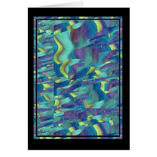 Artículo multicolor del regalo del modelo tarjeta de felicitación