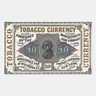 Artículo promocional del tabaco del vintage - pegatina rectangular