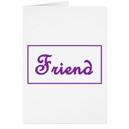 Artículo púrpura del regalo de las letras del AMIG Tarjeta De Felicitación
