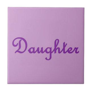 Artículo púrpura del regalo de las letras del azulejo cuadrado pequeño