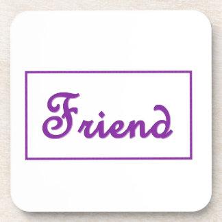 Artículo púrpura del regalo de las letras del posavasos de bebidas