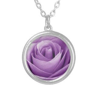 Artículo púrpura del regalo del ramo de los rosas colgante redondo