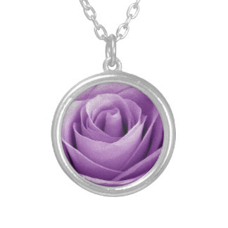 Artículo púrpura del regalo del ramo de los rosas collar plateado