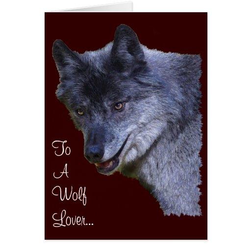 Artículo reservado del regalo del lobo gris tarjeta de felicitación