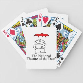 Artículo retro del logotipo de NTD Baraja De Cartas