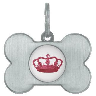 Artículo ROJO del regalo de la corona que usted Placa De Mascota