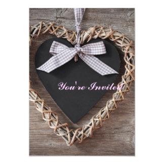 """Artículo romántico de las glicinias del amor invitación 5"""" x 7"""""""