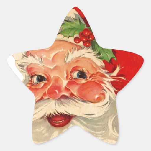 Artículo sonriente del regalo de vacaciones del pegatina en forma de estrella