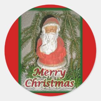 Artículos a juego de Santa del navidad del cartón Pegatina Redonda