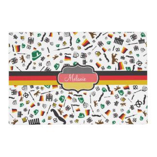 Artículos alemanes con la bandera de Alemania Salvamanteles
