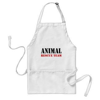 Artículos animales del regalo del equipo de rescat delantal