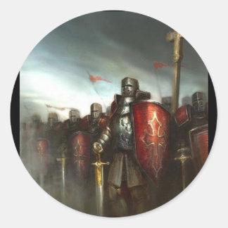 Artículos calificados del campo de batalla pegatinas redondas