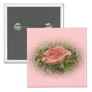 Artículos coordinados seta rosada pin cuadrada 5 cm