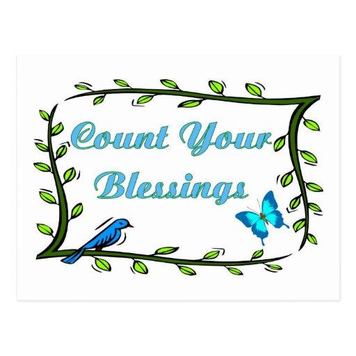 Artículos cristianos sobre bendiciones tarjetas postales