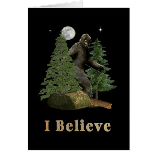 Artículos de Bigfoot Tarjeta De Felicitación