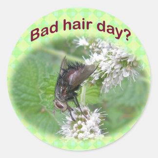 Artículos de coordinación de la mala del pelo mosc etiquetas redondas