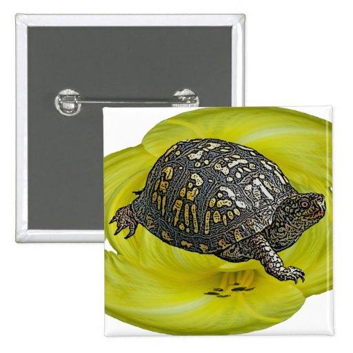 Artículos de coordinación del este de la tortuga d pin cuadrada 5 cm