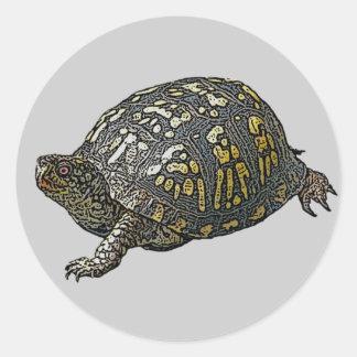 Artículos de coordinación del este de la tortuga pegatina redonda