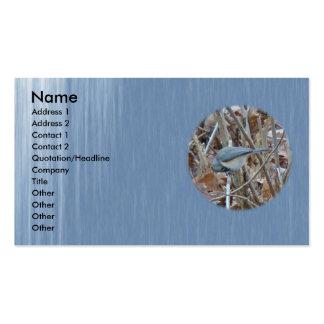 Artículos de coordinación del pájaro cantante del  plantilla de tarjeta de visita